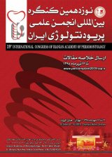 19th international congress of iranian acadeny of periodontology