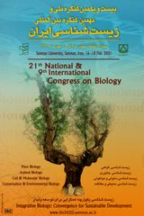 21th National & 9th International Congress on Biology